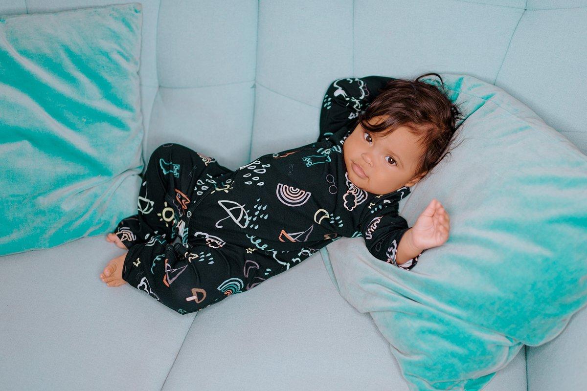 RUDENS kimono pidžama, MELNA