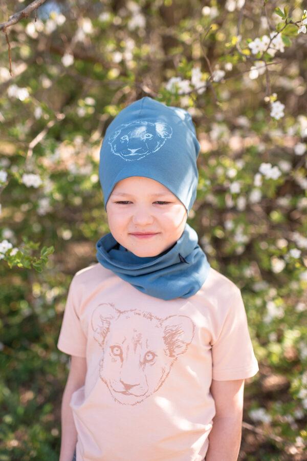 Šalle - bufs bērniem, zils