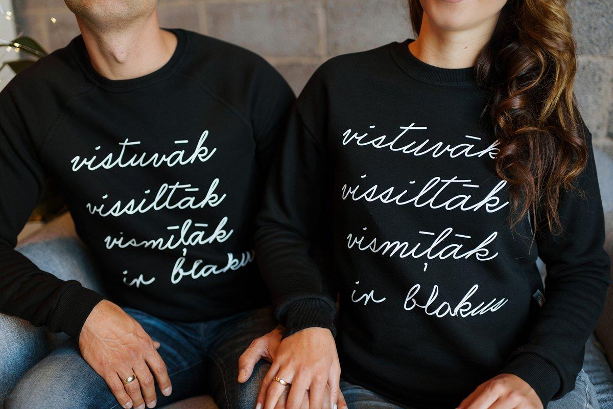 Sieviešu džemperis VISTUVĀK VISSILTĀK VISMĪĻĀK IR BLAKUS