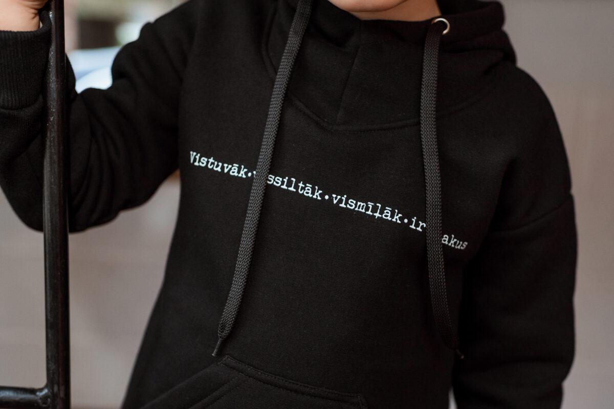 Bērnu kapučdžemperis, MELNS