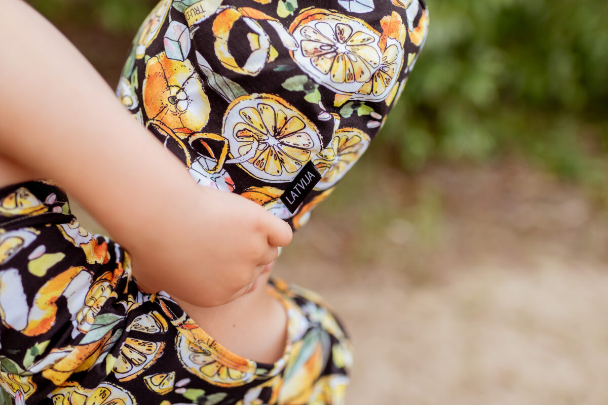 CITRONU cepure bērniem, MELNA