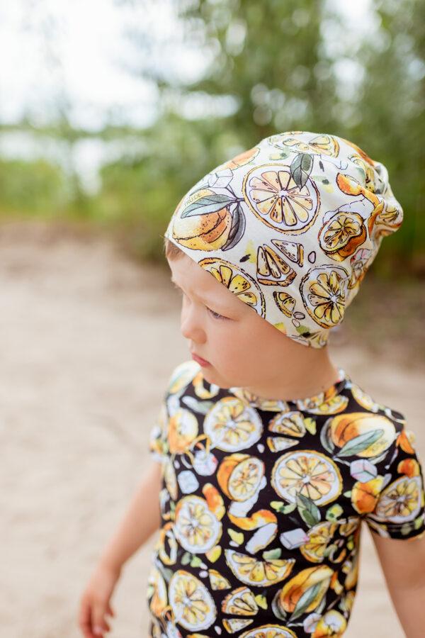 CITRONU cepure bērniem, DZELTENA