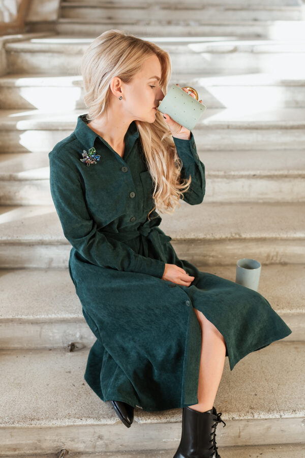 KREKLKLEITA - smaragdzaļš velvets