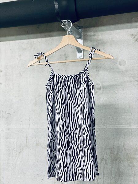 Vasaras kleita meitenēm ar sienamām lencītēm, ar zebras printu