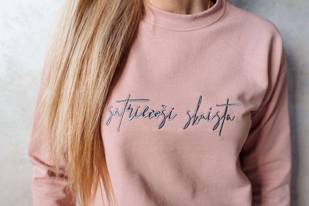 SATRIECOŠI SKAISTA sieviešu džemperis - ROZĀ