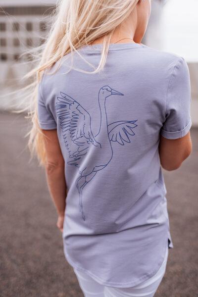 T-krekls sievietēm DZĒRVE, lillā