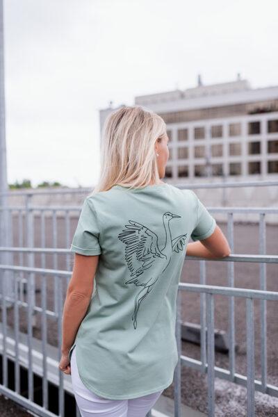 T-krekls sievietēm DZĒRVE, dūmakains mint