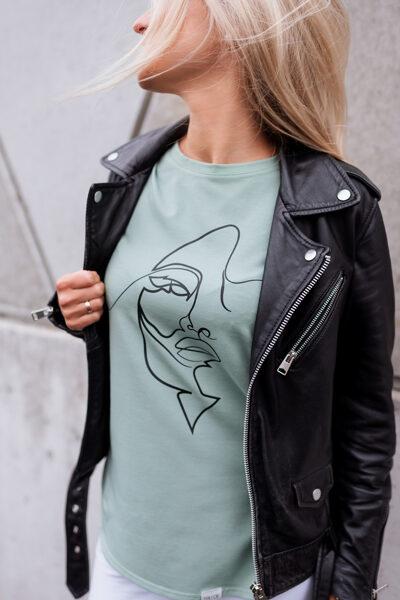 T-krekls sievietēm SEJA, dūmakains mint