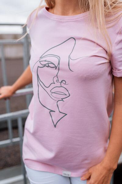 T-krekls sievietēm SEJA, maigi sārts