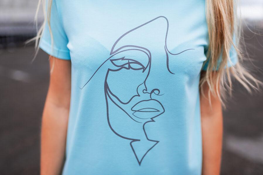 T-krekls sievietēm SEJA, tirkīzzils