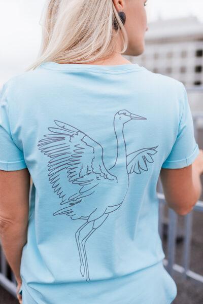 T-krekls sievietēm DZĒRVE, tirkīzzils