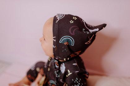 RUDENS sienamā cepure mazulim vienā kārtā, PELĒKBRŪNA