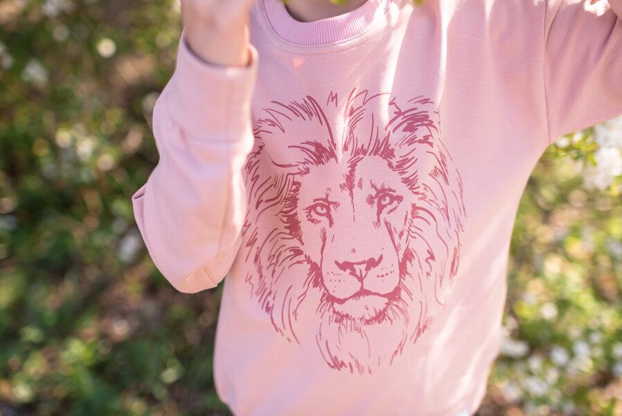 Bērnu džemperis ar lauvas apdruku, vecrozā
