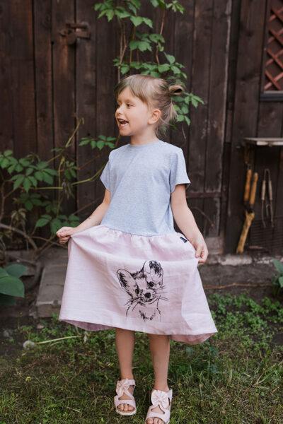 LIMITED EDITION - kleita meitenēm ar caunas apdruku