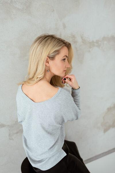 Sieviešu tops ar muguras izgriezumu, SUDRABA SPĪDUMS