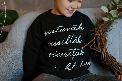 Bērnu džemperis VISTUVĀK VISSILTĀK VISMĪĻĀK IR BLAKUS