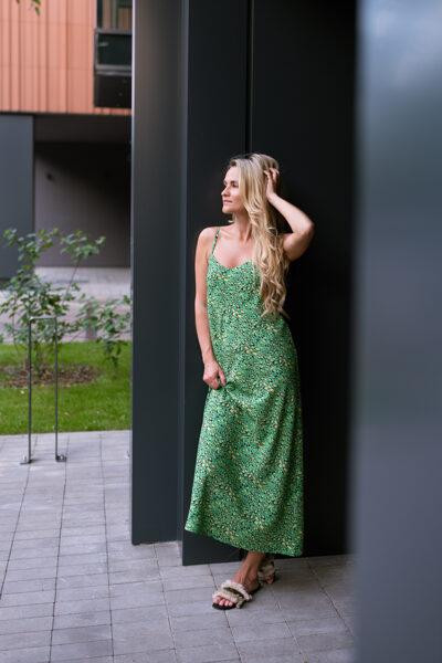 Slip kleita, zaļi mistraina