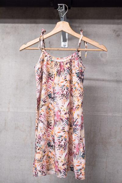 Vasaras kleita meitenēm ar sienamām lencītēm, sārta