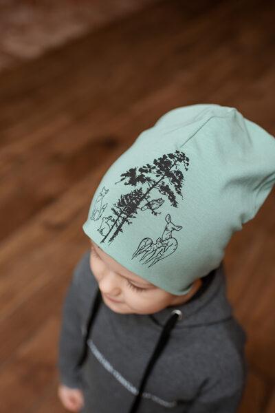 Cepure bērniem ar zvēru apdruku, MINT