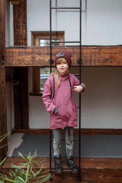 Bērnu kapučdžemperis, LILLĀ