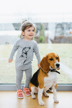 Tops bērniem ar suņa attēlu