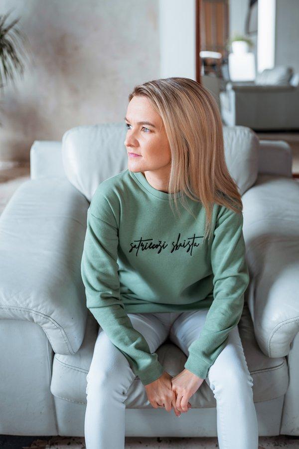 SATRIECOŠI SKAISTA sieviešu džemperis - MINT